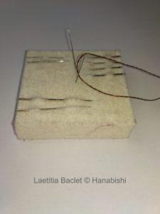 Photos d'aiguilles utilisées en broderie traditionnelle japonaise