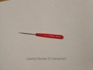 Photo d'un poinçon utilisé en broderie traditionnelle japonaise