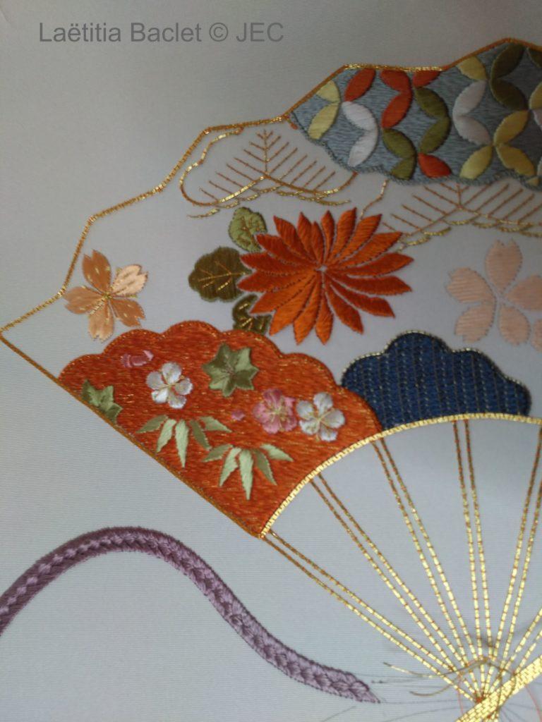 """Zoom sur la phase 2&3 """"Sensu"""" - Superposition motifs fleurs et feuilles de bambou"""